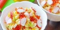 Салат с крабовыми палочками и икрой