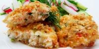 Крабовые котлеты с сыром, зеленью и чесноком